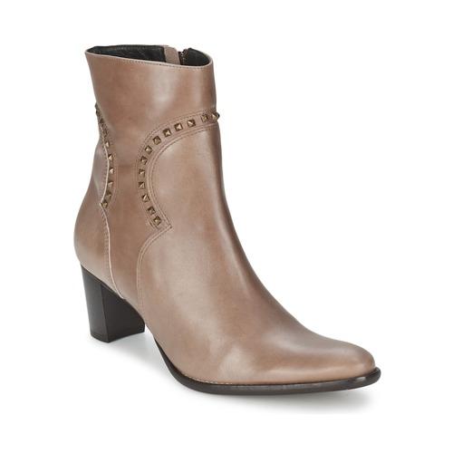Polokozačky / Kotníkové boty Betty London GRELOT Šedobéžová 350x350
