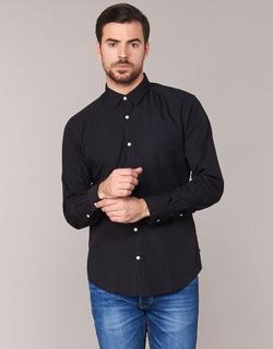 Textil Muži Košile s dlouhymi rukávy Esprit FOVETTIO Černá