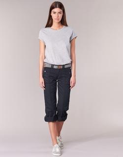 Textil Ženy Kapsáčové kalhoty Esprit TURN UP Černá