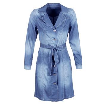 Textil Ženy Pláště Cream DENIM TRENCHCOAT Džínová modř