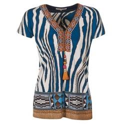 Textil Ženy Trička s krátkým rukávem Derhy JAQUERIE Modrá