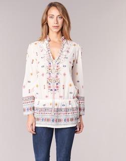 Textil Ženy Tuniky Derhy DETENTE Bílá / Růžová