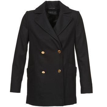Textil Ženy Kabáty Esprit WATTS Černá