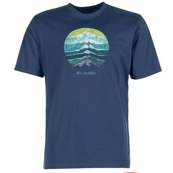 Textil Muži Trička s krátkým rukávem Columbia CSC MOUNTAIN SUNSET Modrá