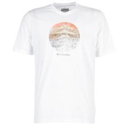 Textil Muži Trička s krátkým rukávem Columbia CSC MOUNTAIN SUNSET Bílá