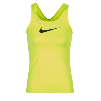 Nike Tílka / Trička bez rukávů NIKE PRO COOL TANK - Žlutá