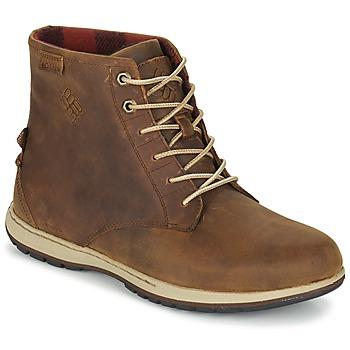 Columbia Kotníkové boty DAVENPORT SIX WATERPROOF LEATHER - Bílá