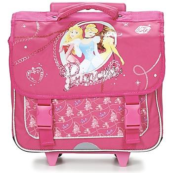 Disney Tašky / Aktovky na kolečkách Dětské PRINCESSES CARTABLE TROLLEY 38CM - Růžová