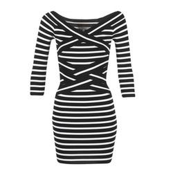 Textil Ženy Krátké šaty Morgan RBEST Černá / Krémově bílá