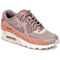 Boty Ženy Nízké tenisky Nike AIR MAX 90 W Šedobéžová / Růžová