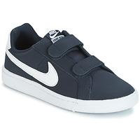 Boty Děti Nízké tenisky Nike COURT ROYALE PRESCHOOL Modrá / Bílá