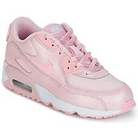 Boty Dívčí Nízké tenisky Nike AIR MAX 90 MESH SE PRESCHOOL Růžová