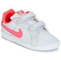 Boty Dívčí Nízké tenisky Nike COURT ROYALE TODDLER Šedá / Růžová