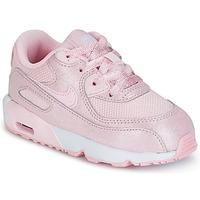 Boty Dívčí Nízké tenisky Nike AIR MAX 90 MESH SE TODDLER Růžová