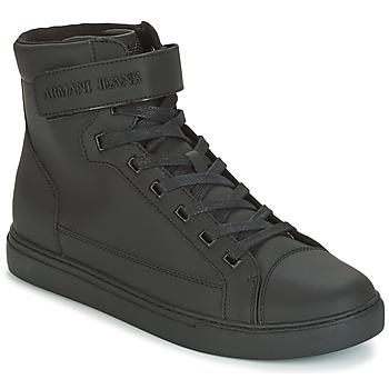 Boty Muži Kotníkové tenisky Armani jeans JEFEM Černá