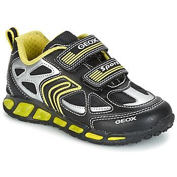 Boty Chlapecké Nízké tenisky Geox J SHUTTLE B. A Černá / Žlutá