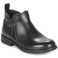 Boty Dívčí Kotníkové boty Geox J AGATA C Černá