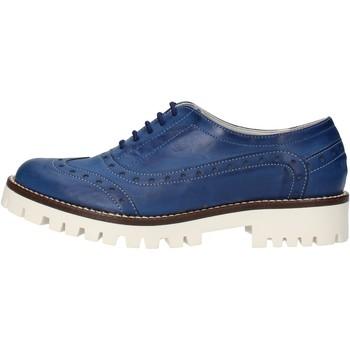 Boty Ženy Šněrovací polobotky  & Šněrovací společenská obuv Olga Rubini classiche blu pelle AF117 Blu