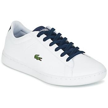 Boty Děti Nízké tenisky Lacoste CARNABY EVO Bílá / Tmavě modrá