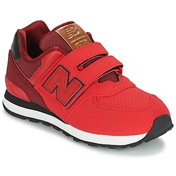 Boty Děti Nízké tenisky New Balance KV575 Červená / Černá