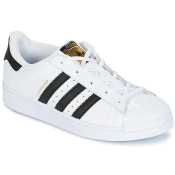 Boty Děti Nízké tenisky adidas Originals SUPERSTAR Bílá / Černá