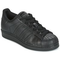 Boty Děti Nízké tenisky adidas Originals SUPERSTAR Černá