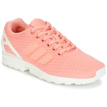 Boty Ženy Nízké tenisky adidas Originals ZX FLUX W Růžová / Bílá