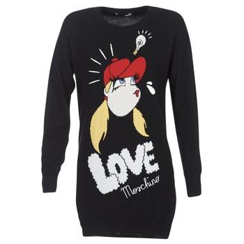 Textil Ženy Krátké šaty Love Moschino WS45S01X0608 Černá
