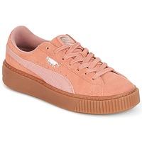 Boty Ženy Nízké tenisky Puma Suede Platform Core Gum Růžová