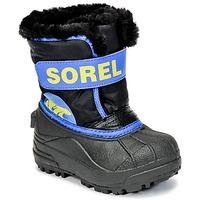 Boty Děti Zimní boty Sorel CHILDRENS SNOW COMMANDER Černá / Modrá