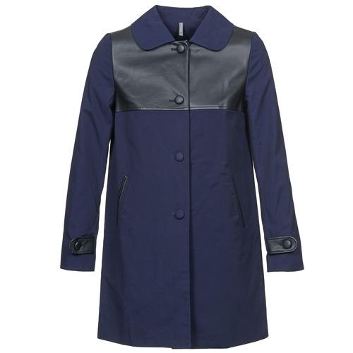 Textil Ženy Kabáty Naf Naf BAUNS Tmavě modrá