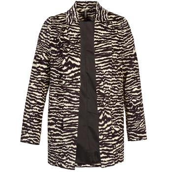 Textil Ženy Kabáty Naf Naf DEBOA Černá / Krémově bílá