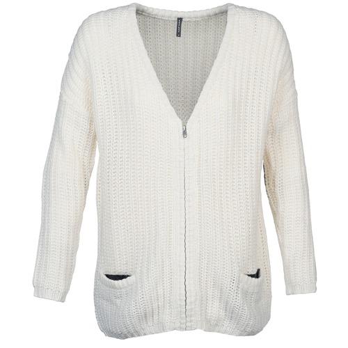 Textil Ženy Svetry / Svetry se zapínáním Naf Naf MEDEN Krémově bílá