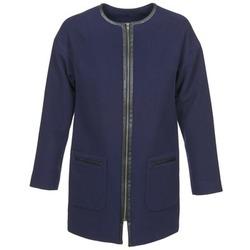 Textil Ženy Kabáty Naf Naf ALYSON Tmavě modrá
