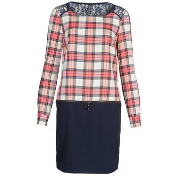 Textil Ženy Krátké šaty Naf Naf KLEMS Tmavě modrá / Červená
