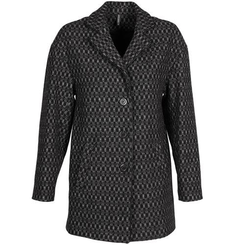 Textil Ženy Kabáty Naf Naf AKLAPA Černá