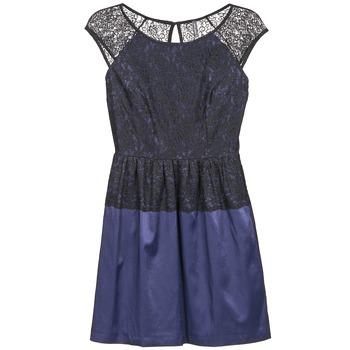 Textil Ženy Krátké šaty Naf Naf LYLITA Černá / Tmavě modrá