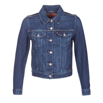 Textil Ženy Riflové bundy Levi's ORIGINAL TRUCKER Modrá