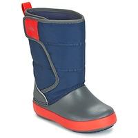 Boty Děti Zimní boty Crocs LODGEPOINT SNOW BOOT K Tmavě modrá