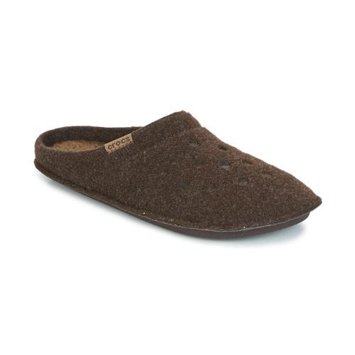Boty Papuče Crocs CLASSIC SLIPPER Hnědá