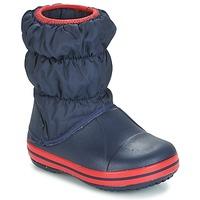 Boty Děti Zimní boty Crocs WINTER PUFF BOOT KIDS Tmavě modrá