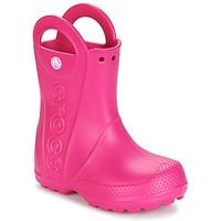 Boty Dívčí Holínky Crocs HANDLE IT RAIN BOOT Růžová