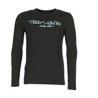 Textil Muži Trička s dlouhými rukávy Teddy Smith TICLASS 3 ML Černá