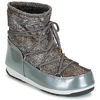 Boty Ženy Zimní boty Moon Boot MOON BOOT LOW LUREX Šedá / Stříbřitá
