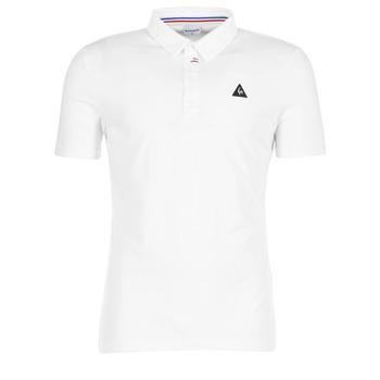Textil Muži Polo s krátkými rukávy Le Coq Sportif LCS TECH POLO Bílá