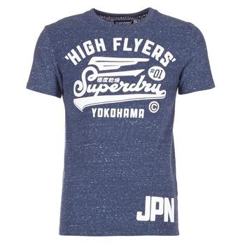 Textil Muži Trička s krátkým rukávem Superdry HIGH FLYERS REWORKED Tmavě modrá