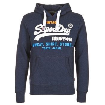 Textil Muži Mikiny Superdry SHIRT STORE TRI Tmavě modrá