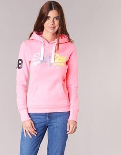 Textil Ženy Mikiny Superdry VINTAGE LOGO STRIPE FADED Růžová