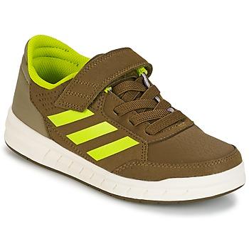 Boty Chlapecké Nízké tenisky adidas Performance ALTASPORT EL K Khaki / Žlutá