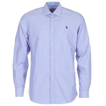 Textil Muži Košile s dlouhymi rukávy U.S Polo Assn. RUSTY Tmavě modrá